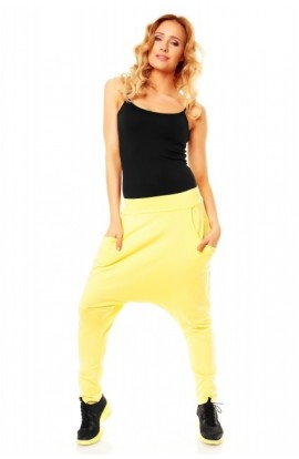 Pantalon fashion galben light