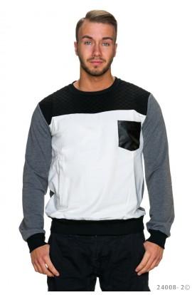 Bluza de Trening Barbati cu Elemente de Contrast si Buzunar Decorativ