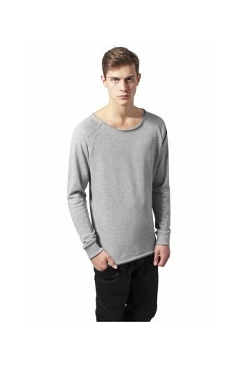 Bluza cu guler rotund gri