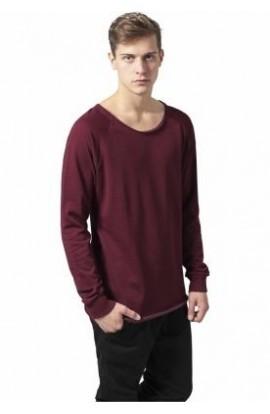 Bluza cu guler rotund burgundy