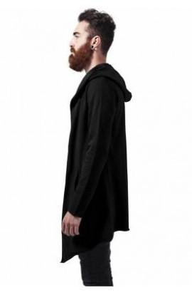 Cardigan barbatesc negru cu gluga