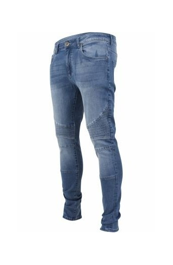 drăguţ magazin din Marea Britanie design de calitate Blugi barbati Slim Fit Biker - LarisFashion