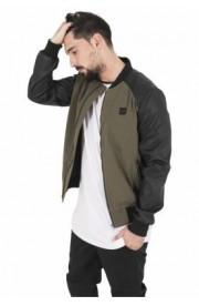 Jacheta barbati din bumbac si imitatie piele bomber