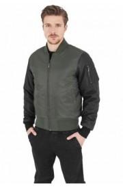 Jacheta cu manecile din piele ecologica