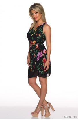 Rochie Eleganta cu Pliuri si Model Floral