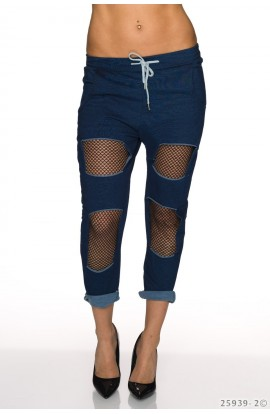 Pantaloni Jogger cu Rupturi