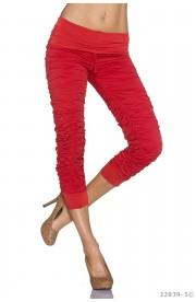 Pantaloni Casual 7/8 cu Incretituri