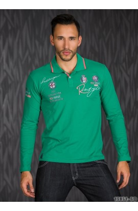Bluza Polo cu Logo Print