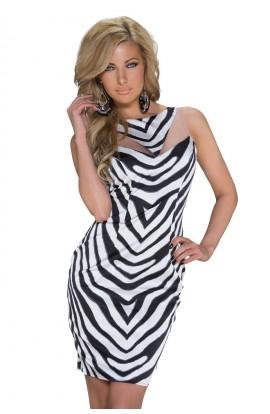 Rochie Mini Bodycon Zebra Print