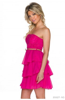 Rochie Babydoll cu Volanase si Bust Sclipitor