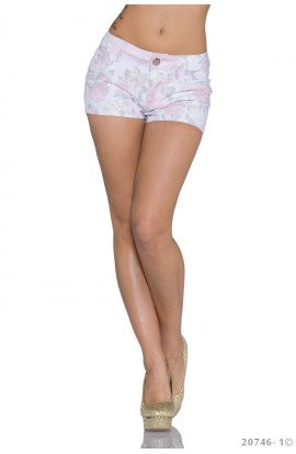 Hot Pants cu Imprimeu Floral