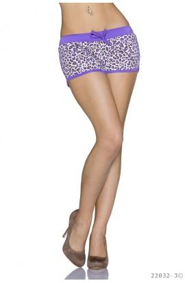 Sort Dama cu Imprimeu Leopard