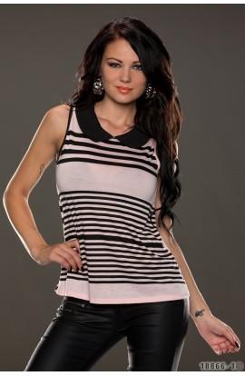 Bluza Dama Eleganta cu Imprimeu in Dungi