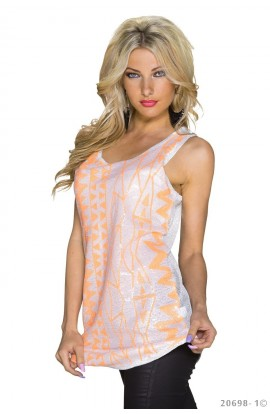 Top Dama Casual cu Print Abstract