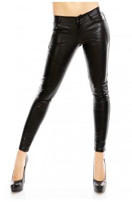 Pantaloni Dama Piele Ecologica cu Aspect Matlasat