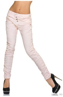 Pantaloni Blug Lungi ,Roz Prafuit pentru Dame