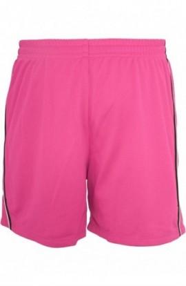 Pantaloni sport din plasa pentru femeie Dance roz-negru L