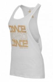 Maiouri fitness bumbac femei Dance alb-auriu L
