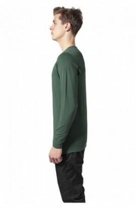 Bluza barbati cu manca lunga fitted verde XL