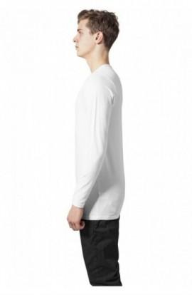 Bluza barbati cu manca lunga fitted alb S