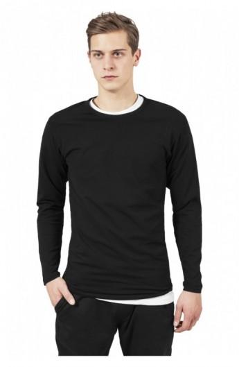 Bluza barbati cu manca lunga fitted negru S