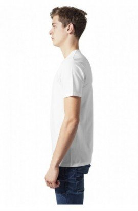 Fitted Stretch Tee alb M
