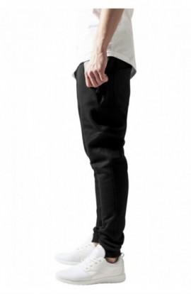 Pantaloni trening conici negru-gri L