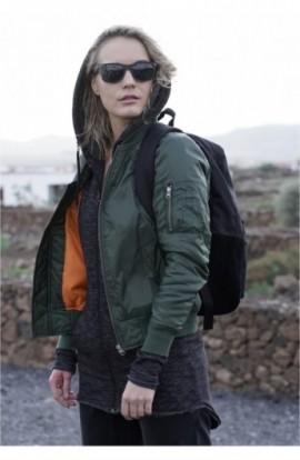 Geaca bomber primavara femei oliv S