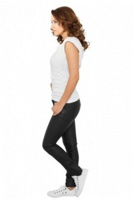 Pantaloni imitatie piele dama negru XS