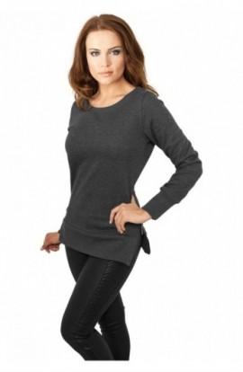 Bluze lungi pentru colanti cu fermoar gri carbune XL