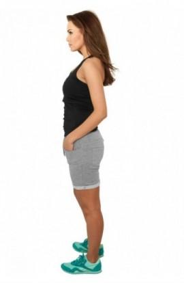 Pantaloni scurti fitness femei gri XS