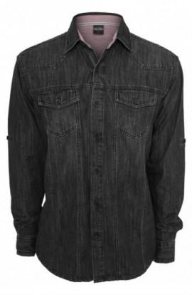 Camasi de blugi negru crud L