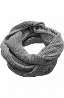 Fulare tricotate tubulare gri
