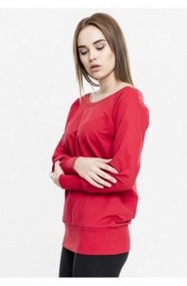 Bluza urban cu guler rotund rosu XL