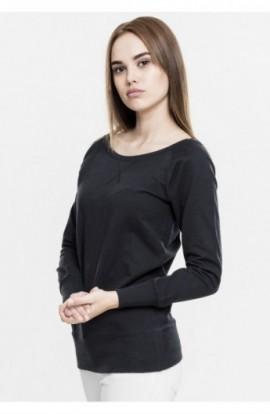 Bluza urban cu guler rotund negru L