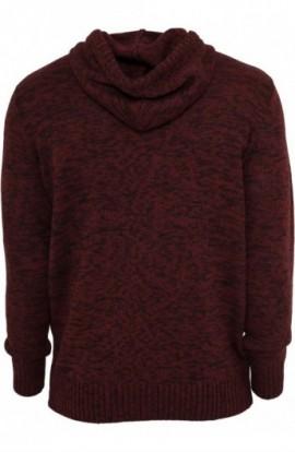 Hanorace urban knitted negru-rubin M