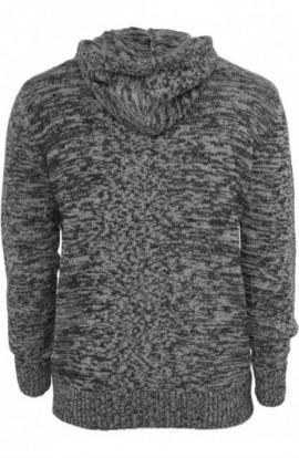 Hanorace urban knitted negru-gri S