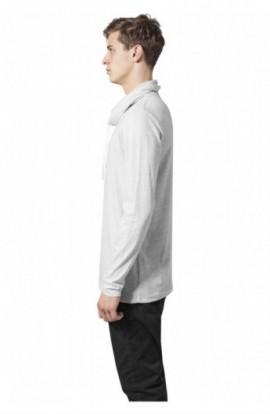 Bluze cu guler inalt cu maneca lunga gri deschis S