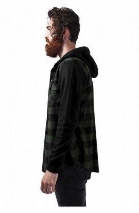 Camasi urban cu gluga negru-verde-negru XL