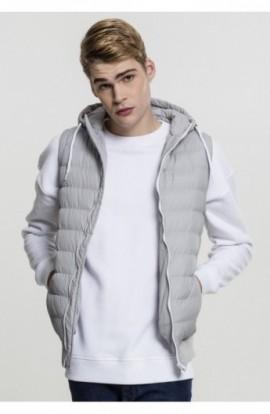 Vesta barbati casual gri-alb M