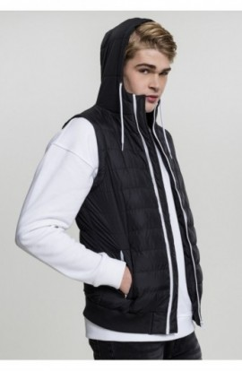 Vesta barbati casual negru-alb L