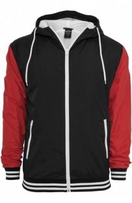 Geci de primavara sport negru-rosu XL