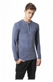 Bluza barbati aspect prespalat albastru denim XL