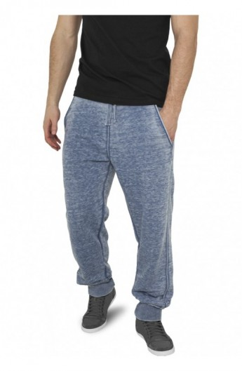 Pantaloni de trening cu elastic jos albastru denim L