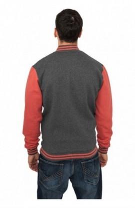 Geaca primavara barbati negru-rosu 2XL