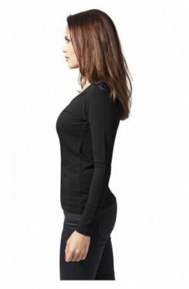 Tricouri cu maneca lunga simple femei negru S
