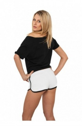 Pantaloni scurti sport femei alb-negru XL