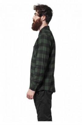 Camasi in carouri barbati negru-verde XL