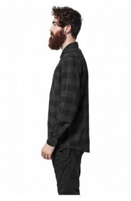 Camasi in carouri barbati negru-gri carbune 2XL