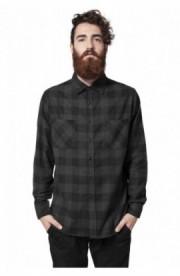Camasi in carouri barbati negru-gri carbune XL